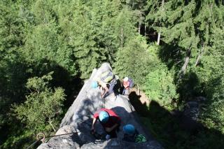 Klettersteigführung im Zittauer Gebirge